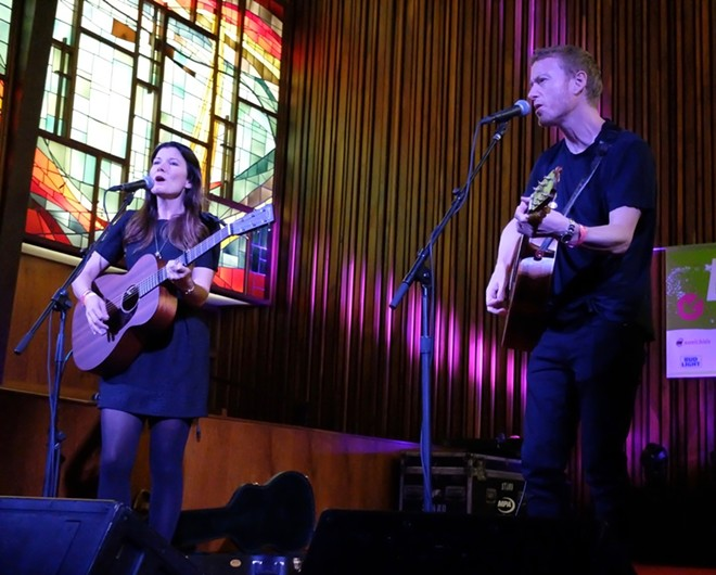 Kelly Jones and Teddy Thompson at Central Presbyterian Church - DANA PLONKA