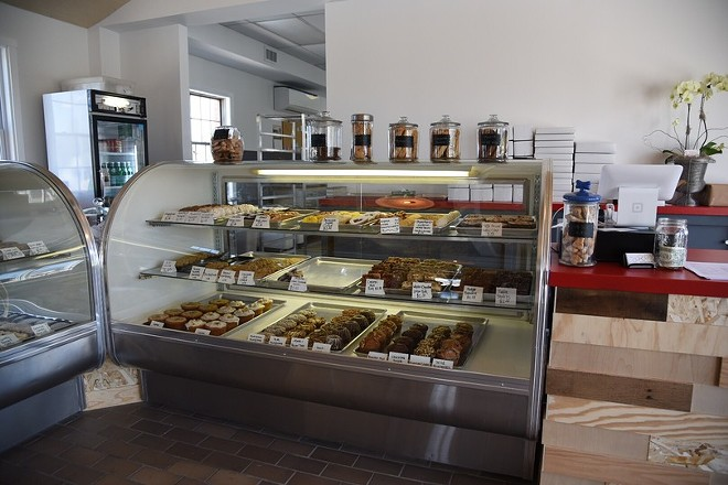 Display cases hold Sucrose's tasty treats. - PHOTO BY KEVIN KORINEK