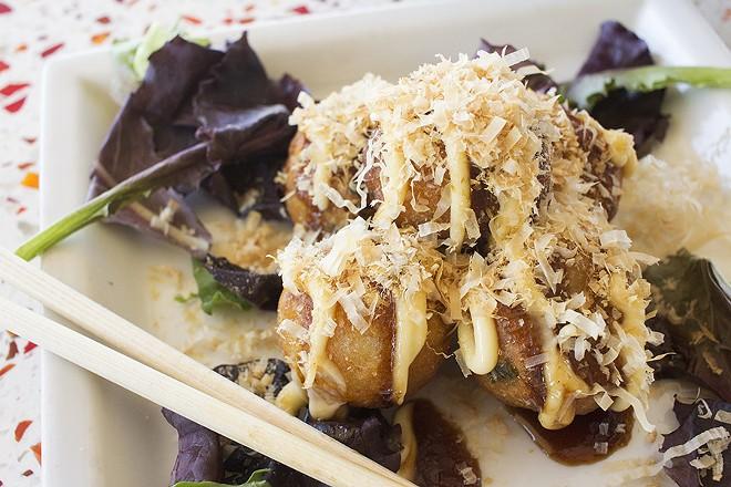 Fried octopus dumplings are a delight. - PHOTO BY MABEL SUEN