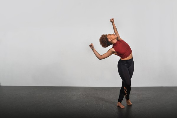 Consuming Kinetics dancer Ashreale McDowell performs choreography by Arica Brown. - PHOTO COURTESY OF DAVE MOORE PHOTOGRAPHY 2016.
