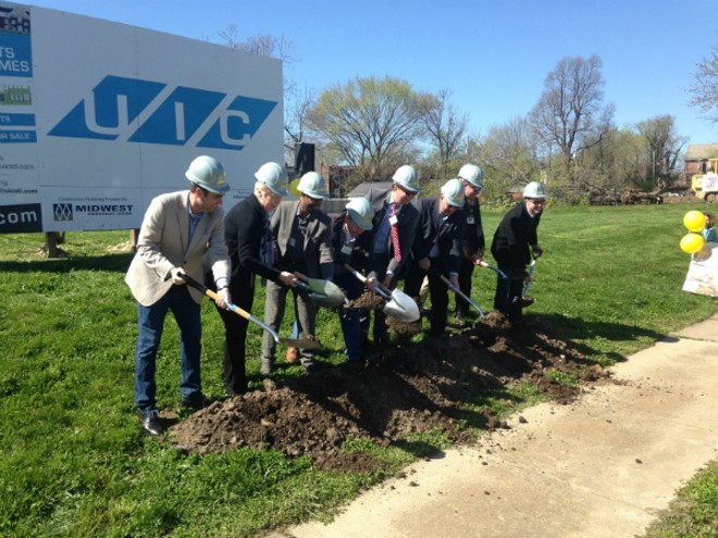 An April 2 groundbreaking marks the beginning of construction on a housing development in a DeTonty Street lot. - DOYLE MURPHY