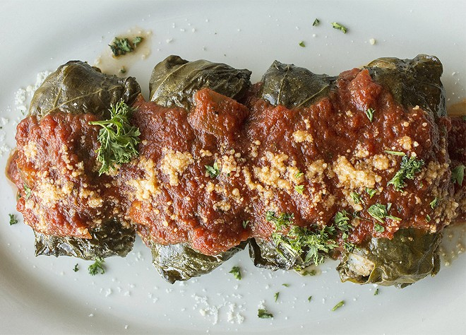 The dolmades at Dados: hand-crafted and the size of a fist. - PHOTO BY MABEL SUEN
