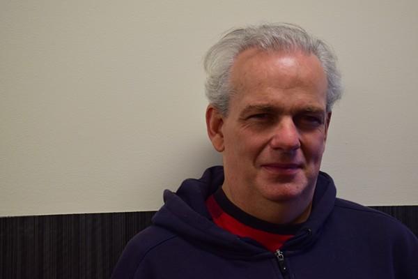 "Robert Vaughn, tech nerd, describes himself as his wife's ""guide dog."" - KATELYN MAE PETRIN"