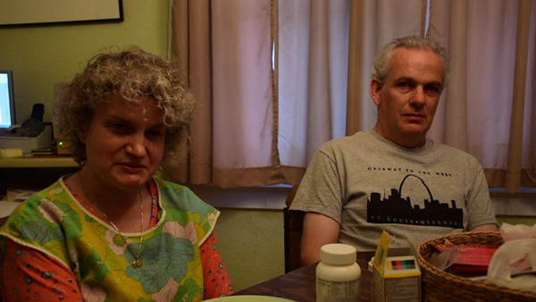 Robert and Kim Vaughn in their home. Robert has low vision; Kim is blind and partially deaf. - KATELYN MAE PETRIN