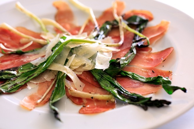 GRILLED RAMPS WITH SPECK AT I FRATTELINI   SUZY GORMAN