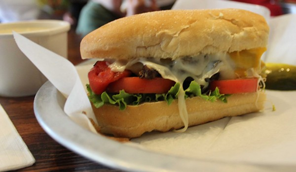 The veggie melt from Nora's in Dogtown. - PHOTO BY LAUREN MILFORD