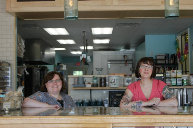 Nancy Boehm and Christy Augustin have more room to bake at the new, larger location of Pint Size Bakery. - CHERYL BAEHR