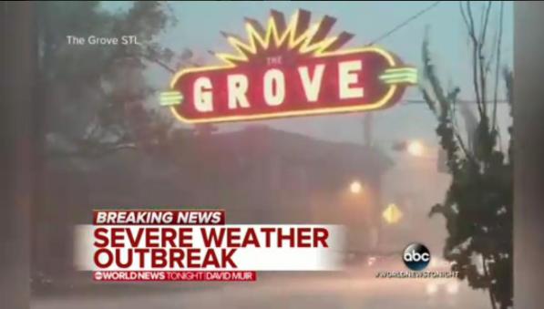 The Grove made it on ABC World News Tonight, too. - PHOTO COURTESY OF INSTAGRAM / THEGROVESTL