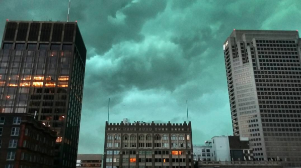 This photo was taken at the Tower at OPOP apartments. Oh boy.... - PHOTO COURTESY OF INSTAGRAM / DEGANDCHIPS