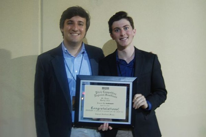 Jacob Mohrmann and Andrew Glantz of GiftAMeal were on the winning college team. - PHOTO BY HARLAN MCCARTHY