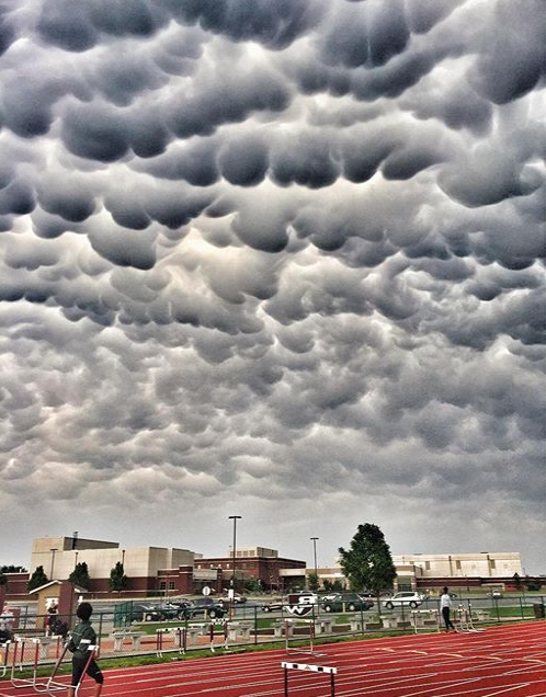 Mammatus clouds made an appearance over Belleville, Il. - PHOTO COURTESY OF INSTAGRAM / WANDERLUST314