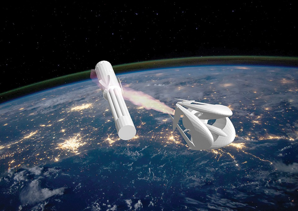 Brian Stofiel's plastic rockets are born on a 3-D printer and destined for space.