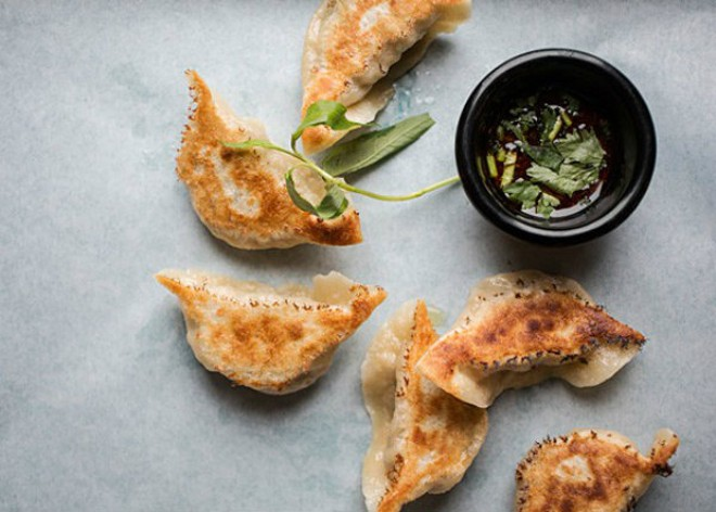 Housemade dumplings, a must-try at Lona's Li'l Eats. - JENNIFER SILVERBERG