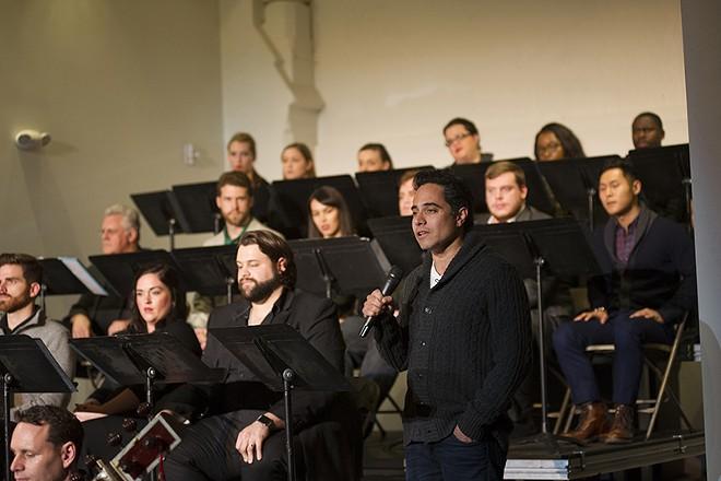 The Opera Fusion New Works public reading of Shalimar in Cincinnati in October 2015. - PHILIP GROSHONG AND CINCINNATI OPERA