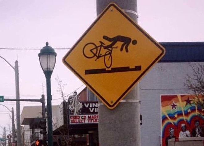 Watch for falling cyclists. - PHOTO BY S. PLATT