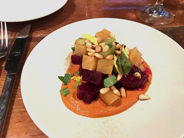 Beet salad with pine nuts. - PHOTO BY LAUREN MILFORD