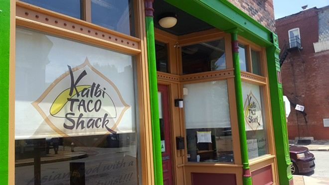 Kalbi Taco Shack sits at the corner of Cherokee St. and Indiana Ave. Plenty of seating is offered inside, and a patio sits out back. - KAVAHN MANSOURI
