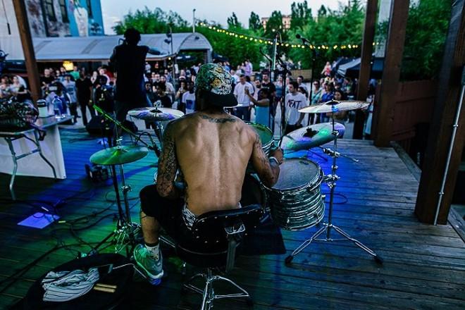 Domino Effect rocking the 2015 Music Showcase - RFT SLIDESHOW
