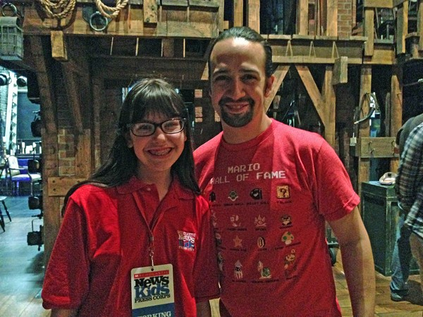 After seeing the show with her parents, Appelstein got to interview cast members and Lin Manuel Miranda, who also stars in the production. - PHOTO BY CALLIE APPELSTEIN