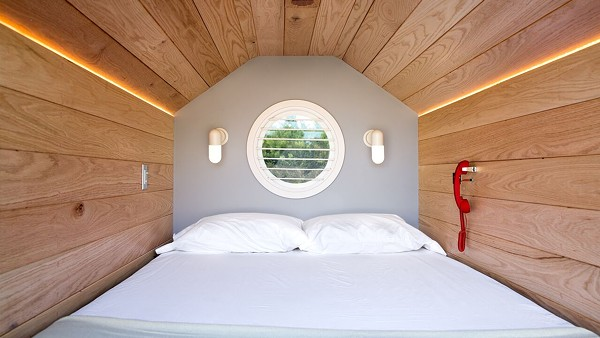 Inspired by Japanese capsule hotels, these nap pods will put you in a peaceful environment amidst all the people - GIANNA TOTARO