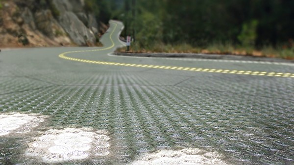MoDoT hopes to have a section of Route 66 gathering solar energy by the end of this year. - SOLAR ROADWAYS