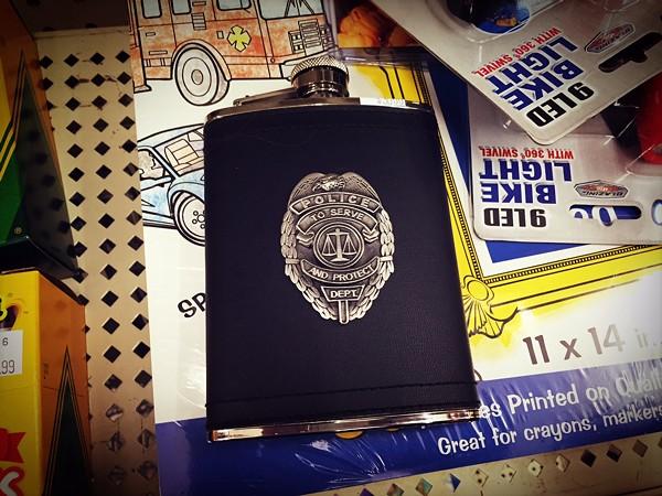 Police... flask? - PHOTO BY JAIME LEES