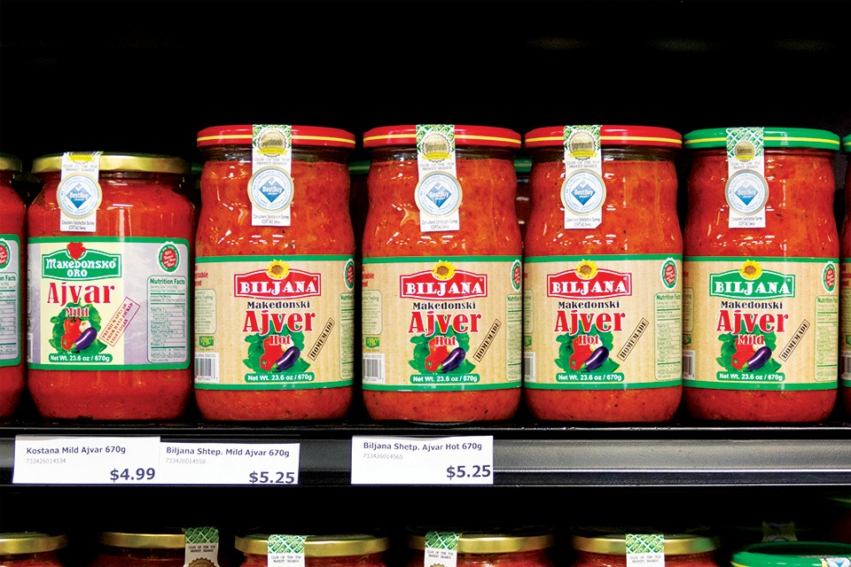 Sold at Europa Market, ajvar is as essential to Bosnian cuisine as tomato sauce is to Italian. - RYAN GINES