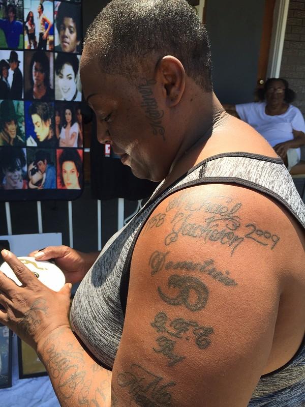 Dee's tattoo - PHOTO BY JAIME LEES