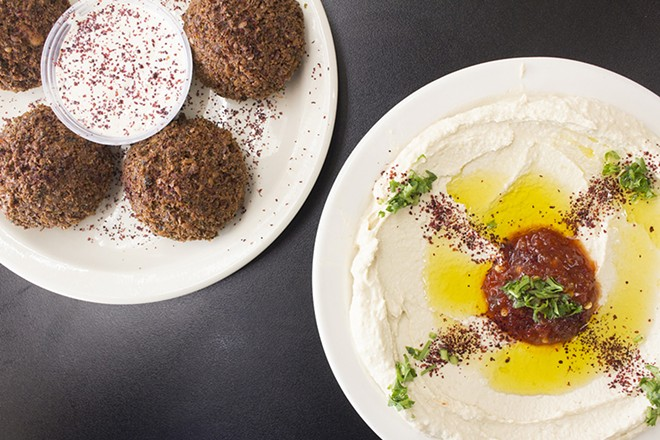 Falafel and hummus. - PHOTO BY MABEL SUEN