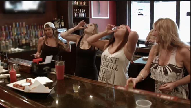 Bartenders at City BIstro: Whatever gets you through the night. - IMAGE VIA YOUTUBE