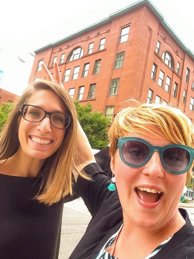 Renegade STL founder Amanda Clark, right, with business partner Adriana Perrone. - PHOTO COURTESY OF AMANDA CLARK.