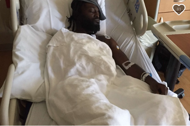Jah Orah was left with a broken clavicle after a disturbing incident Saturday night in south St. Louis. - IMAGE VIA GOFUNDME