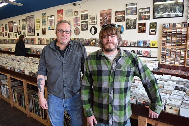 Planet Score Records owners Tim Lohmann and Joe Stulce became label heads with the release of Hell Night's new LP. - DANIEL HILL