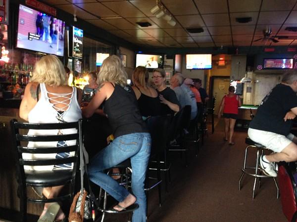 Joe Momma's is at that fine point where biker culture meet dive bars. - PHOTO BY DANIEL HILL