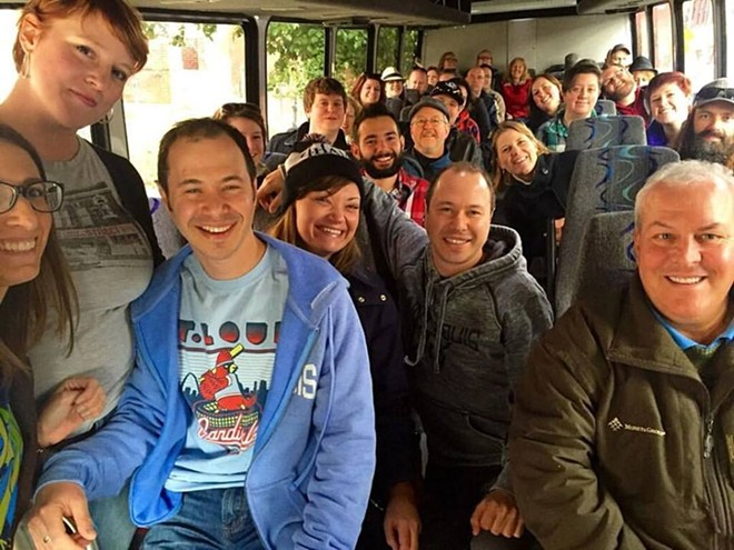 A group of tour goers on a Renegade bus. - PHOTO OURTESY OF RENEGADE STL.