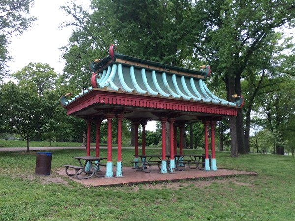 This is what the pavilion looked like before the restoration. - PHOTO COURTESY OF TOWER GROVE PARK.