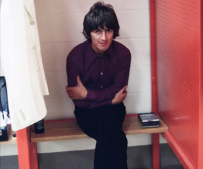 George Harrison, down and out at Busch Stadium. - RFT ARCHIVES/BOB BONIS/COURTESY OF EBAY/EDELMAN PUBLIC RELATIONS