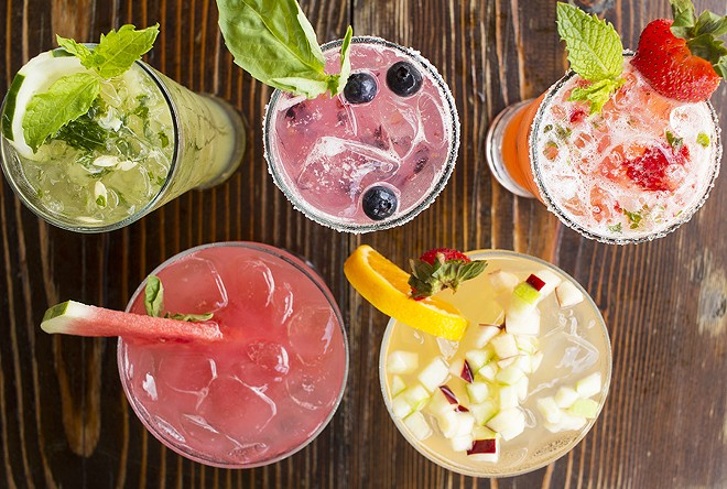 Club Taco cocktails are fruit-forward and highly quaffable. - PHOTO BY MABEL SUEN