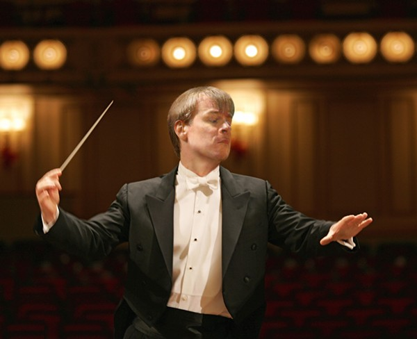 Saint Louis Symphony Orchestra Music Director David Robertson. Is he ready to dab? - PHOTO BY DAN DREYFUS
