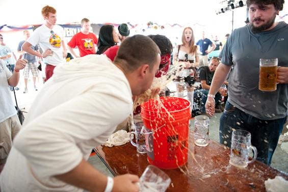 Soulard Oktoberfest started as a neighborhood event in 2004 but grew into a huge festival. - JON GITCHOFF