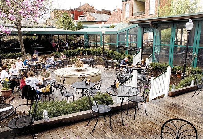 The patio at McGurk's: a special kind of place. - RFT ARCHIVES