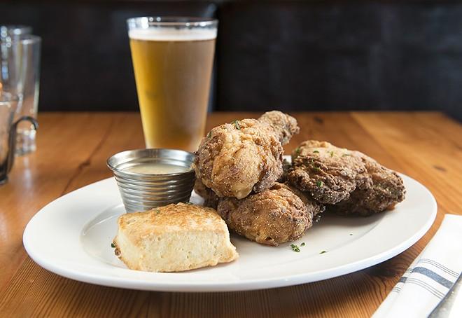 Food at Three Flags Tavern: Worth sobering up for. - COREY WOODRUFF