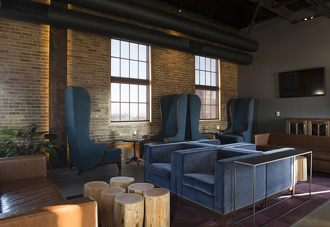 The lounge at Element could help anyone close the deal. - PHOTO BY COREY WOODRUFF