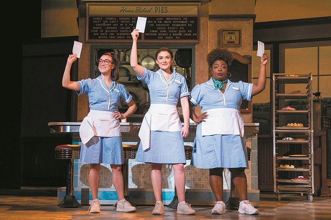 In the musical Waitress, Jenna has a bad marriage, an unexpected pregnancy and a gift for making pies. Can she use any of those things to transform her life? - PHILICIA ENDELMAN