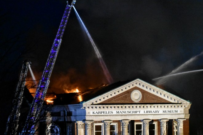 The Karpeles Manuscript Library Museum was badly damaged by fire. - DOYLE MURPHY
