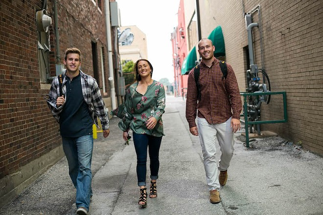 Roo co-founders Eric Laurent, Kristen Rivers and Jake Hurrell. - COURTESY OF ROO