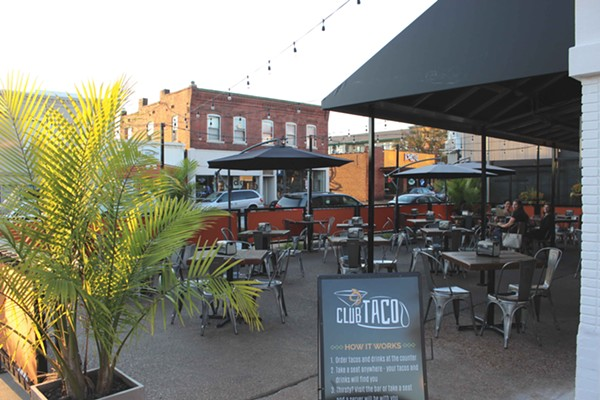 Club Taco's large patio. - PHOTO BY LAUREN MILFORD