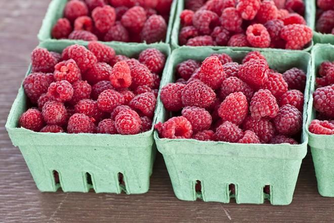 Farmers market raspberries: Delicious. - SHUTTERSTOCK/VERENA MATTHEW