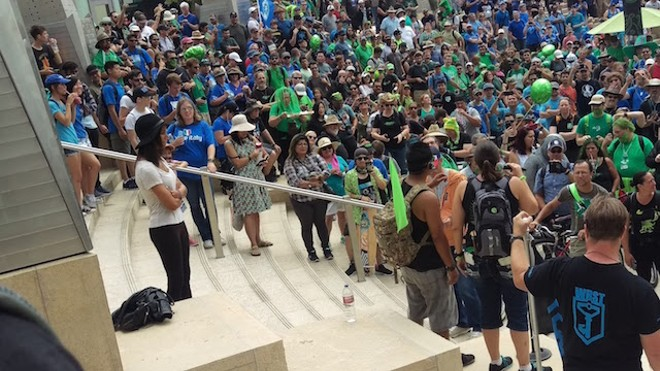 Ingress players congregating in San Diego. - COURTESY OF CARRIE BRADFIELD