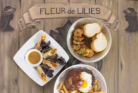 A trio of dishes at Fleur de Lilies. - PHOTO BY MABEL SUEN